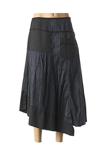 Jupe mi-longue bleu EVALINKA pour femme
