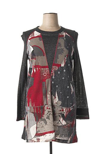 Robe pull gris JEAN DELFIN pour femme