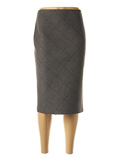 Jupe mi-longue gris ANTONELLI FIRENZE pour femme