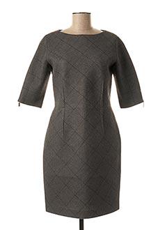 Robe mi-longue gris ANTONELLI FIRENZE pour femme