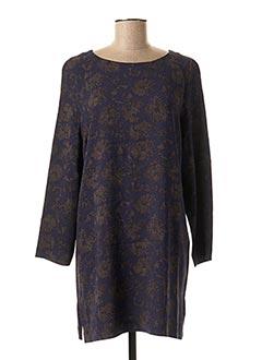 Tunique manches longues bleu ROSSO 35 pour femme