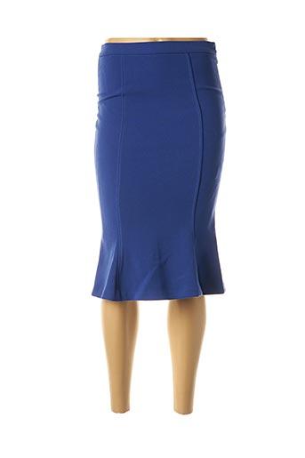 Jupe mi-longue bleu ÉCLÀ pour femme