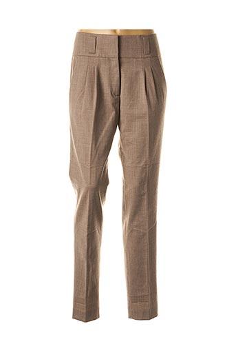 Pantalon chic marron FABIANA FILIPPI pour femme