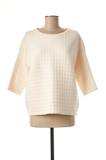 Sweat-shirt beige ROSSO 35 pour femme