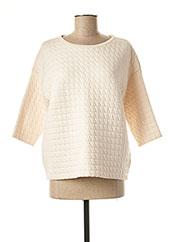 Sweat-shirt beige ROSSO 35 pour femme seconde vue