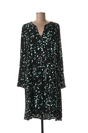 Robe mi-longue noir SANDWICH pour femme