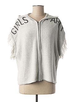 Gilet manches courtes gris SORRY 4 THE MESS pour fille