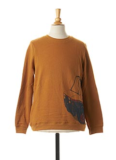 Sweat-shirt marron SORRY 4 THE MESS pour garçon