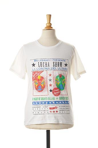 T-shirt manches courtes blanc BILLYBANDIT pour garçon