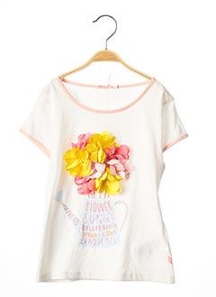 T-shirt manches courtes blanc BILLIEBLUSH pour fille