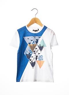 T-shirt manches courtes blanc SORRY 4 THE MESS pour garçon