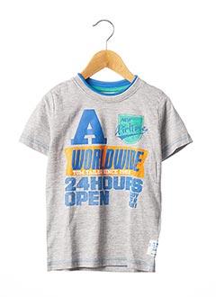 T-shirt manches courtes gris TOM TAILOR pour garçon