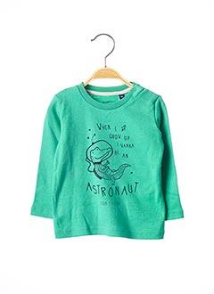 T-shirt manches longues vert TOM TAILOR pour garçon
