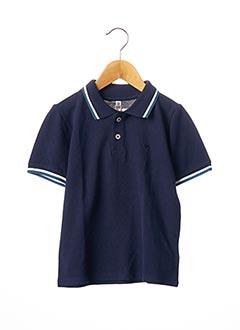 Polo manches courtes bleu TOM TAILOR pour garçon