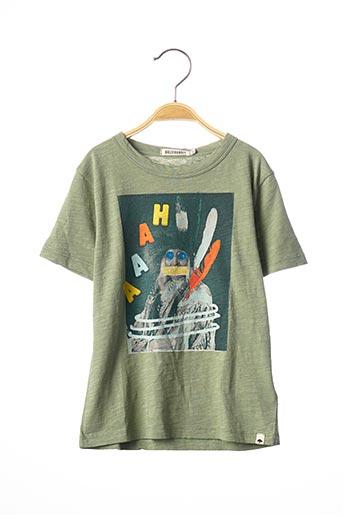 T-shirt manches courtes vert BILLYBANDIT pour garçon