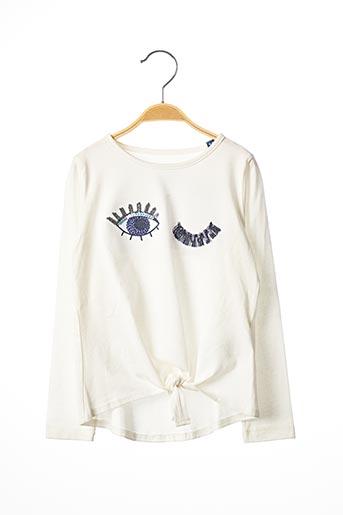 T-shirt manches longues blanc TOM TAILOR pour fille