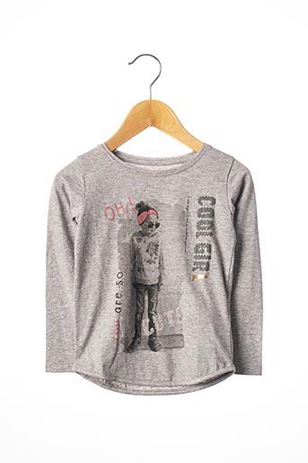 T-shirt manches longues gris TOM TAILOR pour fille