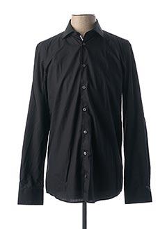 Chemise manches longues noir CALAMAR pour homme