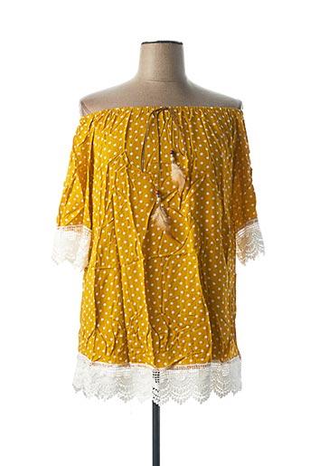 Tunique manches courtes jaune CHRISTY pour femme