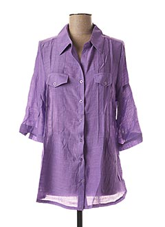 Chemisier manches longues violet F.D JOSEPH pour femme