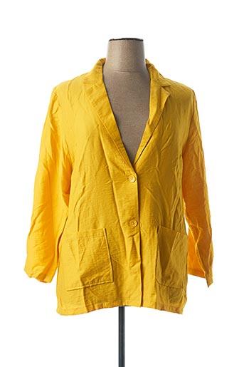 Veste casual jaune CHRISTY pour femme