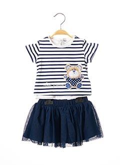 Top/jupe bleu MAYORAL pour fille