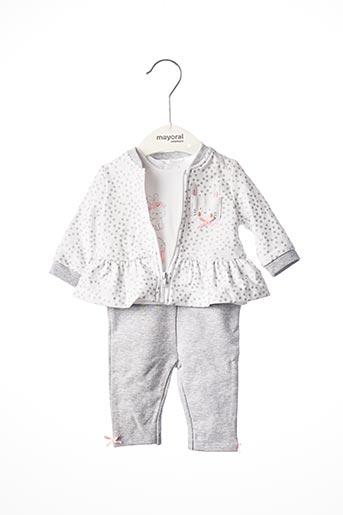 Veste/pantalon gris MAYORAL pour fille