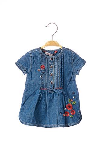 Robe mi-longue bleu BOBOLI pour fille