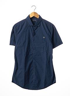 Chemise manches courtes bleu NUKUTAVAKE pour garçon