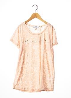 T-shirt manches courtes rose LE TEMPS DES CERISES pour fille