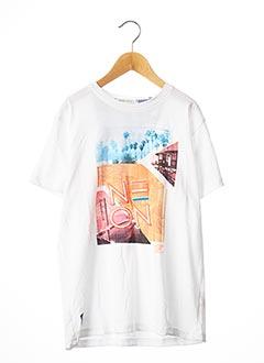 T-shirt manches courtes blanc JN-JOY pour garçon