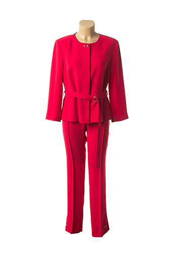 Veste/pantalon rouge EXALTATION pour femme