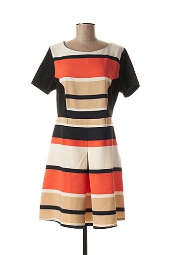 Robe courte orange POUSSIERE D'ETOLE pour femme