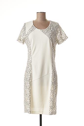 Robe mi-longue blanc IMPULSION pour femme