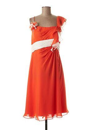 Robe mi-longue orange CREATIF PARIS pour femme