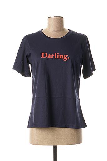 T-shirt manches courtes bleu GRACE & MILA pour femme