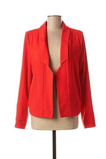 Veste chic / Blazer rouge PAKO LITTO pour femme