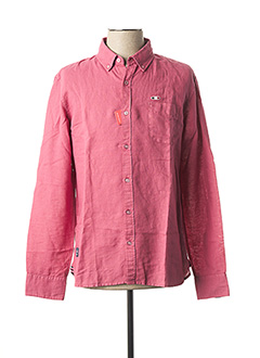 Chemise manches longues rouge OXBOW pour homme
