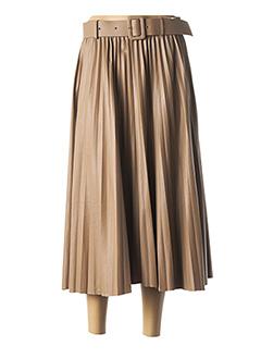 Jupe mi-longue marron ELLI WHITE pour femme