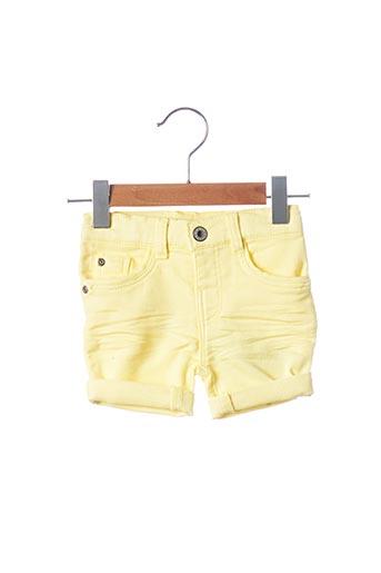 Short jaune 3 POMMES pour garçon