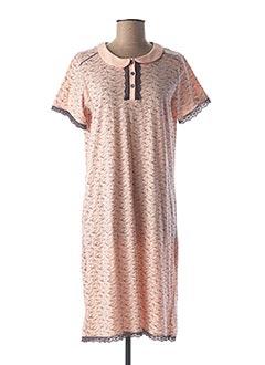 Chemise de nuit orange CANAT pour femme