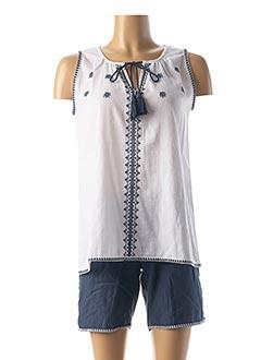 Pyjashort bleu CANAT pour femme