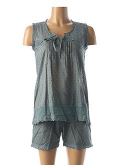 Pyjashort vert CANAT pour femme