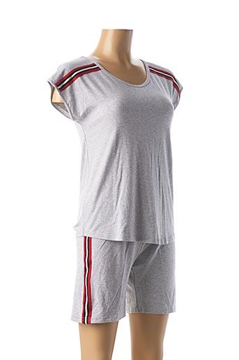 Pyjashort gris CANAT pour femme