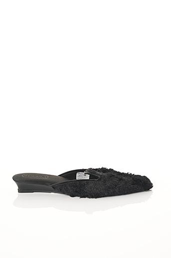 Chaussons/Pantoufles noir TECCIA pour femme