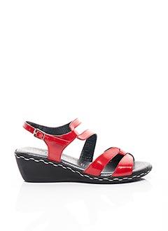 Sandales/Nu pieds rouge GEO-REINO pour femme