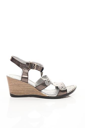 Sandales/Nu pieds gris UN TOUR EN VILLE pour femme