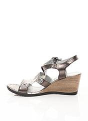 Sandales/Nu pieds gris UN TOUR EN VILLE pour femme seconde vue