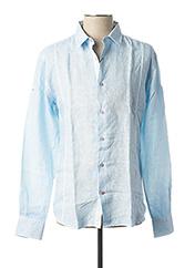 Chemise manches longues bleu LA CIBLE ROUGE pour homme seconde vue