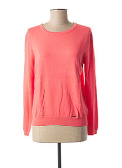Pull col rond rose COQUELICOT pour femme